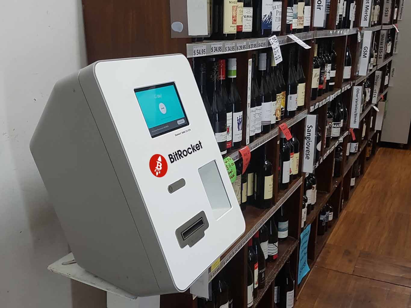 BitRocket Bitcoin ATM Macaulay Rd Cleanskins Wine Melbourne Buy Bitcoin ATM