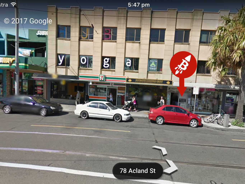 Blank Canvas Co-working St Kilda Melbourne BitRocket Buy Bitcoin ATM